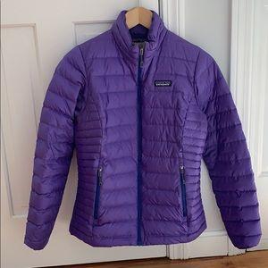 Patagonia Women's Small Down Sweater Jacket Purple